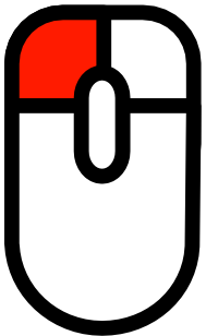 Индикаторы нажатой мышки, кнопки: Левая, правая, колесико, левая+колесико.