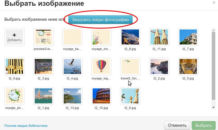 Конструктор сайта рег.ру выбор изображения.